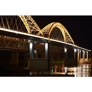 БЛ Групп освещает Новый Борский мост в Нижнем Новгороде