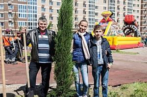 В Москве озеленили новый жилой микрорайон