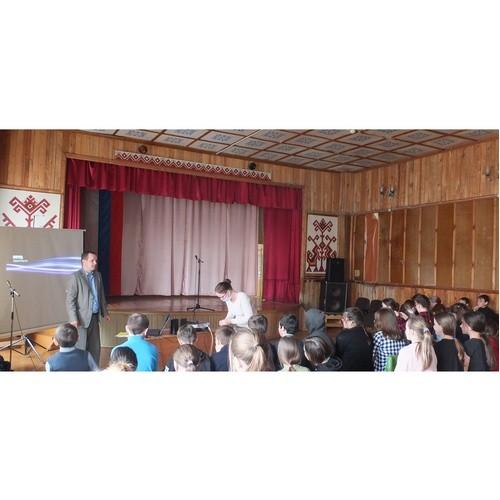 Проведено занятие по электробезопасности для учащихся Кукнурской СОШ