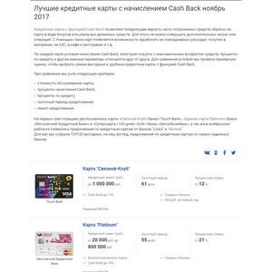 Портал Выберу.ру. Выберу.ру представил топ лучших кредиток с кэшбэком за ноябрь