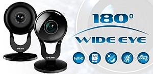 Облачная IP Камера DCS-2530L или DCS-2630L с объективом Wide Eye может заменить несколько видеокамер