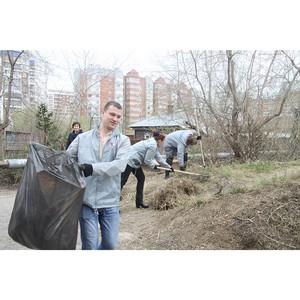 Томские активисты Народного фронта принимают участие в уборке несанкционированных свалок мусора