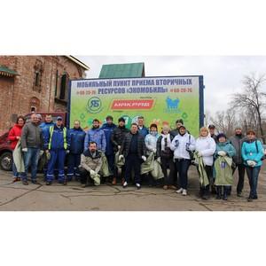 Почти тонну отходов упаковки собрали раздельно волонтеры «Балтики» вместе с партнерами на субботнике
