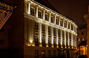 Прожекторы IntiLED в архитектурном освещении многофункционального общественного комплекса