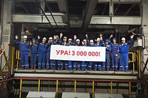 Фабрика окомкования Стойленского ГОКа выпустила трехмиллионную тонну окатышей