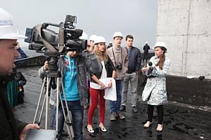 «Аквилон-инвест» пригласил журналистов и блоггеров на крышу самого высокого здания Архангельска