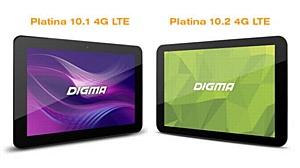 4G-планшеты Digma Platina: высокоскоростное общение