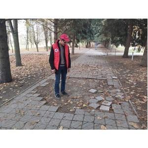ОНФ обратил внимание мэрии на разбитые дорожки в сквере Нальчика