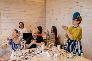 Елена Теплицкая приняла участие в презентации дома из лиственницы строительной компании «Городец»