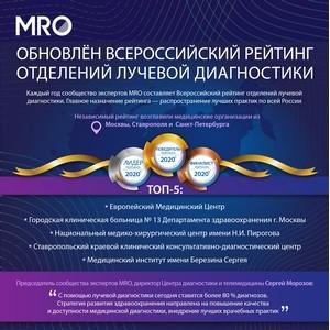 Обновлён Всероссийский рейтинг отделений лучевой диагностики