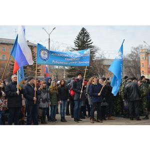 Студенты и преподаватели Рубцовского филиала АлтГУ отдали дань памяти погибшим в Санкт-Петербурге