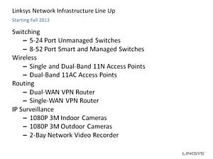 Linksys возвращается на рынок сетевого оборудования для SMB