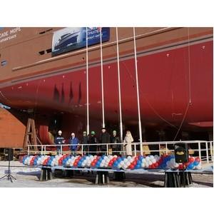 В Выборге прошла церемония спуска на воду траулера «Белое море»