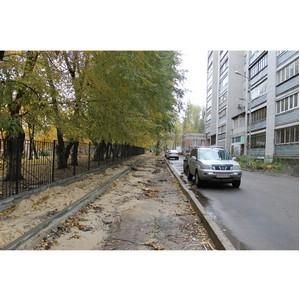 ОНФ просит скорректировать строительство тротуара в Воронеже