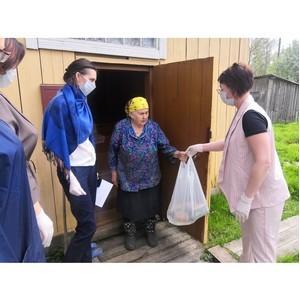 В Коми волонтеры #МыВместе передали продуктовые наборы жителям сел