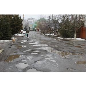 ОНФ просит власти Воронежа отремонтировать дорогу на улице Кораблинова