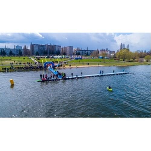 В Курчатове прошли 2-дневные соревнования по триатлону