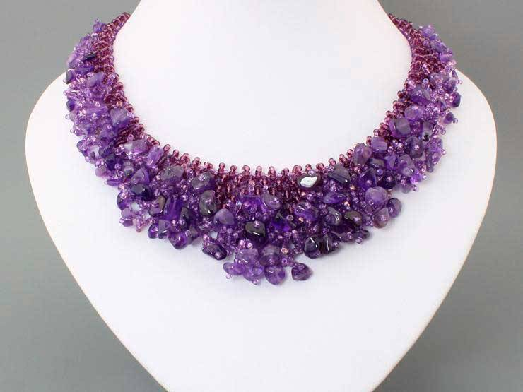 Necklace from natural gemstone