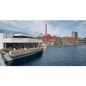 Новый, современный банный комплекс с рестораном на площади Лауконтори в Тампере, Финляндия - открыт