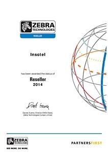 Zebra подтверждает официальный партнерский статус Инсотел - Zebra Reseller 2014
