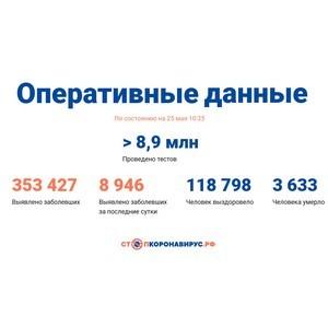 Covid-19: Оперативные данные по состоянию на 25 мая 10:35