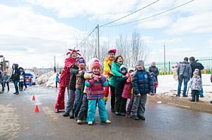Жители поселка «Алладин» в Нижнем Новгороде впервые встретили Масленицу вместе