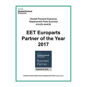 EET Europarts  (АО Европартс Рус) – Партнер Года HPE в 2017 году