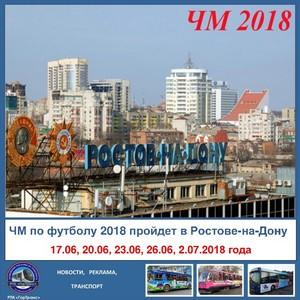 Во время ЧМ-2018 в Ростове изменится схема движения транспорта