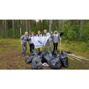 Представители ОНФ в Карелии провели экологическую акцию по уборке берегов Онежского озера
