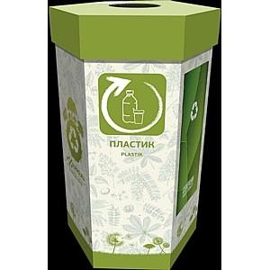 Экологичные контейнеры для раздельного сбора макулатуруры/пластика от компании «Пикселпро»