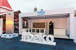 5-метровый холодильник БЕКО установлен на льду катка Красной Площади