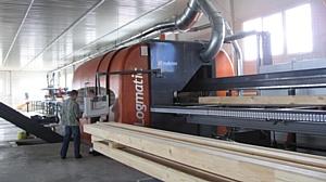 Работа линии MAKRON Logmatic на крупнейшем деревообрабатывающем предприятии