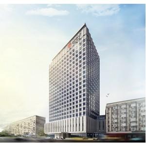 Готовность Azimut Отель Смоленская Москва превысила 40%