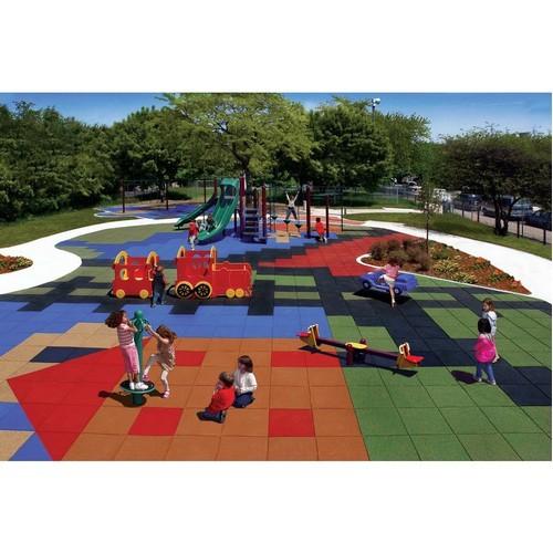 Резиновая плитка для детских площадок и спортивных комплексов