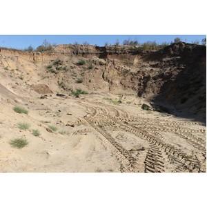 ОНФ просит провести проверку самовольной добычи песка в пригороде Ольховатки