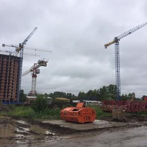 На стройплощадке ЖК «4YOU» установлено 3 башенных крана