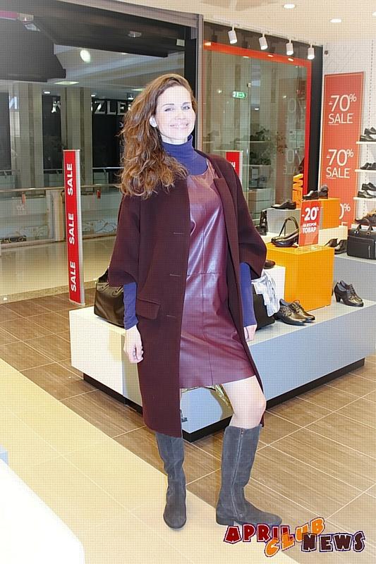 Наталья Лесниковская на шопинге в Thomas Munz