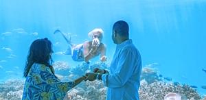 Романтическое предложение руки и сердца под водой в отеле Ozen by Atmosphere