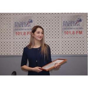 ОНФ в КБР поздравил победительницу конкурса