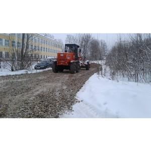 Ивановские активисты ОНФ зафиксировали факты укладки гравия в снег в Вичуге