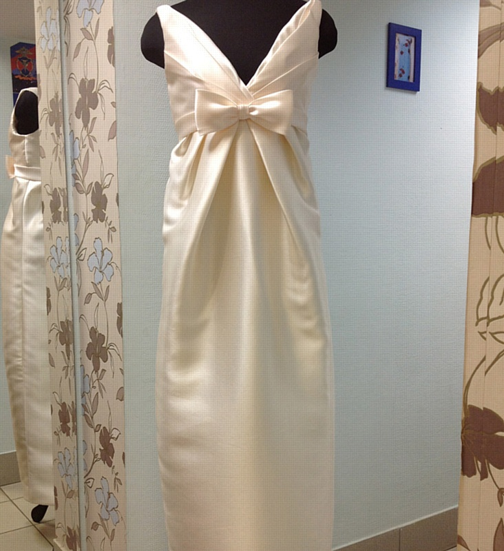 Свадебное платье. Вид спереди.