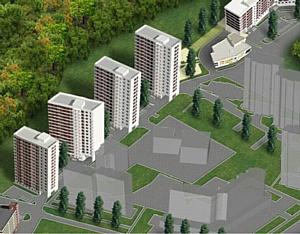 Строительство жилого комплекса в г. Пушкино идет полным ходом