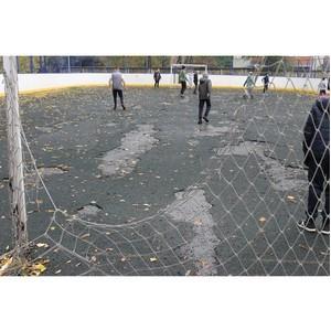 ОНФ просит власти Воронежа отремонтировать школьную спортплощадку