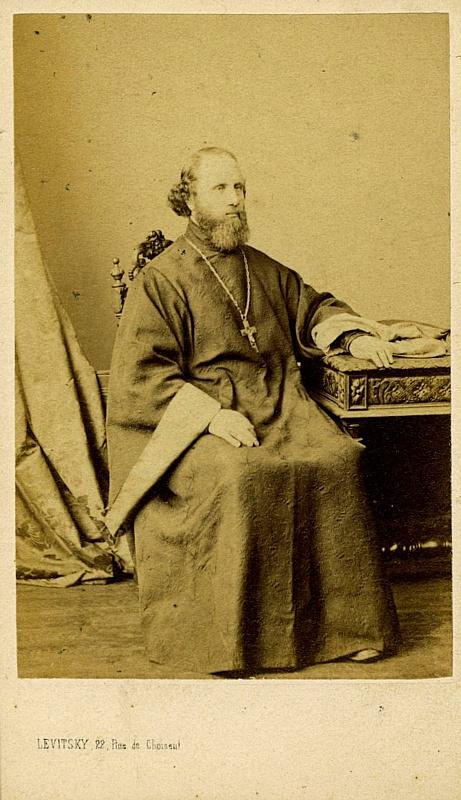 Мужское фото, фотограф С.Л. Левицкий, Париж, 1860-е годы.