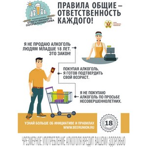 «18+ правила общие – ответственность каждого!»