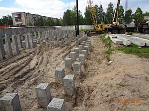 На ЖК «Атмосфера» в Северодвинске устанавливают башенный кран