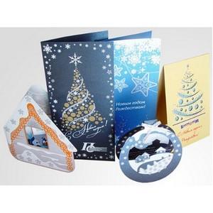 Печать и изготовление новогодних открыток в Москве