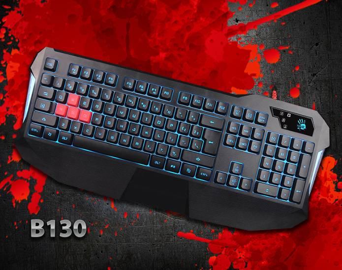 A4Tech Bloody B130 - надежная игровая клавиатура с водонепроницаемым покрытием